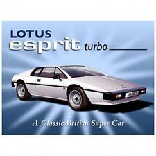 Lotus Esprit Turbo Metal Sign