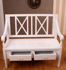 Cottage romantisme dans shabby chic style blanche Banque campagnard