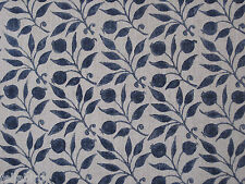 "WILLIAM MORRIS CURTAIN FABRIC ""Rosehip"" 3.5 METRES INDIGO ARCHIVE PRINTS III"