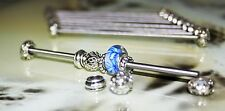 1 x Charm Bead Play Rod (10cm) with 2 x alloy stopper beads for sorting charms