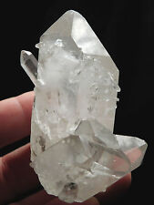 A Very Nice and 100% Natural Quartz Crystal Cluster From Brazil 143gr