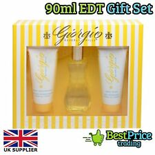 Giorgio Beverly Hills Yellow EDT 90ml Gift Set & Body Wash & Lotion Womens *NEW