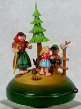 Vintage Hansel & Gretel Wooden Music Box Thorens Switzerland Movement & Germany