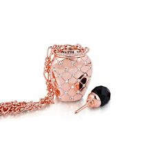 Disney Couture Rose Gold Alice in Wonderland Drink Me Perfume Bottle Necklace