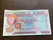Bank of Ireland £100.00 note. aUNC  condition 2005 McGovern issue