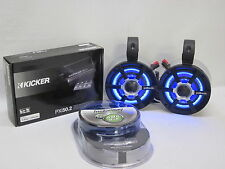 POLK Silver Mini LED W/Amp & kit Honda Roll Cage Speakers UTV RZR Can Am Jeep