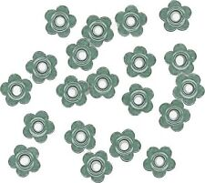 "Set of 100 HUGE DAISY FLOWER Shaped 3/16"" Eyelets Sage Green Colored"