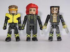 Marvel Universe Minimates X-Men Toy Figure Set  Jean Grey, Cyclops & Wolverine