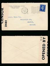 GB 1940 to HOLLAND SHIPBROKERS ENVELOPE + PERFIN I S + CENSOR 2461