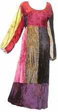 SACRED THREADS FUNKY PATCH VELVET MAXI DRESS 1X CHECK MEASUREMENTS FREE SHIPPING