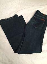 7 SEVEN FOR ALL MANKIND Women's Dojo Flare Jeans Sz 24 Dark Blue