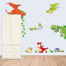 1 X Dinosaur Zoo Wallpaper Decals for Kids Baby Boy Bedroom Wall Stickers SHR