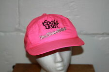 VTG Coors Light Hot Neon Pink Snap Back Adjustable Baseball Cap Hat