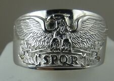 SPQR Roman Legion Eagle solid sterling ring size 11Made in USA!