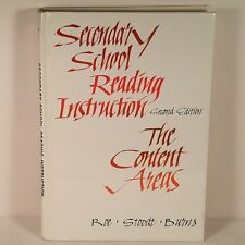 Secondary School Reading Instruction 2nd Ed. The Content Areas (1983, Hardcover)