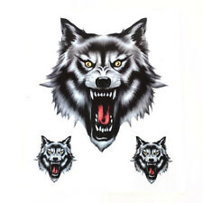 3 of Wolves/wolf Head Sticker/Decal Set F/ Motorcycle Motorbike Car Universal 1x