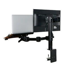 "Laptop Mount & LCD Arm Desk Stand fits for 10""-27"" Monitor & 11""-15.6"" Notebook"