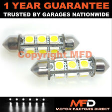 2X WHITE CANBUS NUMBER PLATE INTERIOR 8 SUPER BRIGHT SMD LED BULBS 42MM 19WX2