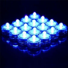 12Pcs LED Submersible Waterproof Wedding Floral Decoration Tea Candle Light Blue
