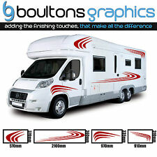 MOTORHOME STRIPES - Camper Van Horsebox Caravan Decals Vinyl Sticker Graphic SS2