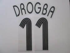 Drogba no 11 Chelsea Champions League Football Shirt Name Set Kids Youth