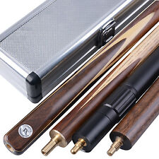New 3/4 piece Handmade 4A Ash Snooker/Pool Cue set W/ Case Extension #TSA9