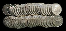 One  roll of 50 Silver 2005 S Proof Roosevelt Dimes - Free Ship