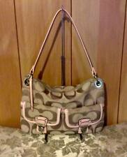 EUC COACH POPPY METALLIC SIGNATURE HIPPIE STYLE: 18980