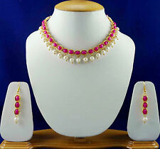 Pink Kundan Bridal Necklace Jewellery Sets With Earrings Fashion Jewellery SSC52