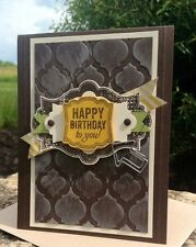 Stampin' Up! Modern Mosaic Textured Impressions Embossing Folder  NEW Retired