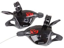 SRAM X9 X.9 X 9 MTB Trigger Shifter Set 2x10 Speed Black/Red W/Clamp New US
