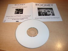 ROONEY - WHEN DID YOUR HEART GO MISSING !FRENCH DJ PROMO CD