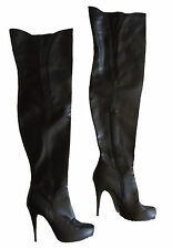 TOPSHOP~BLACK THIGH HIGH OVER THE KNEE OTK BUNNY2 BOOTS~37 7~EUC