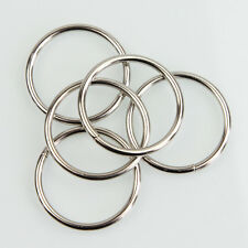"""10PC 1.57"""" Nickel Non Welded Metal Round O Ring for Bags Key Chains Key Rings."""
