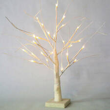 Light Up Tree,LED  2 ft White Glitter bendable twig branch Decorations