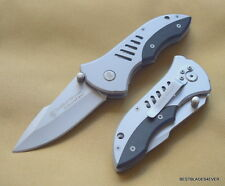 "SMITH & WESSON EXTREMEOPS LINERLOCK FOLDING KNIFE 4.5"" CLOSED WITH POCKET CLIP"