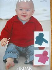 SIRDAR 1697 - CHILDRENS DK SWEATER WITH OPTIONAL HOOD KNITTING PATTERN 16/26in