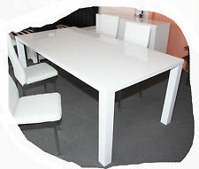 Wave 1600x900 Hi Gloss White Dining Table - BRAND NEW