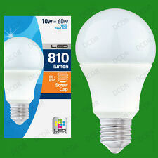2x 10W LED Ultra Low Energy Instant On Pearl GLS Globe Light Bulb ES E27 Lamp