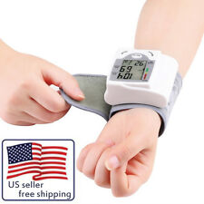 Digital LCD Wrist Blood Pressure Monitor Heart Beat Rate Pulse Meter Measure LC