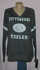 Pittsburgh Steelers Womens O.T. Queen IV Plus Size Sweatshirt Plus Size XL - NFL