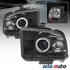 2005-2009 Ford Mustang/GT Coupe [LED Halo] Smoke Projector Headlights Set