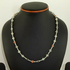 925 STERLING SILVER OVERLAY NECKLACE NATURAL MULTI MOONSTONE GEMSTONE 14 GMS
