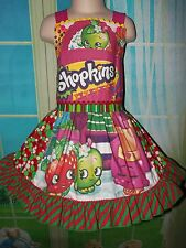 Christmas Shopkins  Dress  Sz.3t/4t Ready to ship 22 in Length