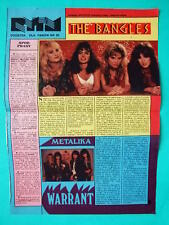 ►►OLD POLISH ARTICLE 80' photo The Bangles Warrant Boy George XTC band POLAND