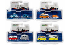 HITCH & TOW V-DUB ASSORTMENT SET OF 4 1/64 DIECAST MODEL CARS GREENLIGHT 51035
