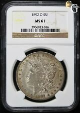 1892-O VAM-12A *9 IN HAIR* R-6 RARE VARIETY NGC MS61 UNCIRCULATED KEY DATE COIN!