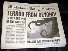 Lovecraft Miskatonic Newspaper Prop Cthulhu Horror Old Ones Monster Arkham
