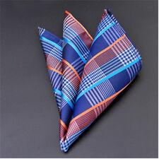 Men's Wedding Party Silk Satin Solid Floral Hanky Pocket Square Handkerchief F16