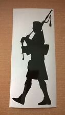 traditional scottish piper band silhouette scotland bag pipes vinyl car sticker